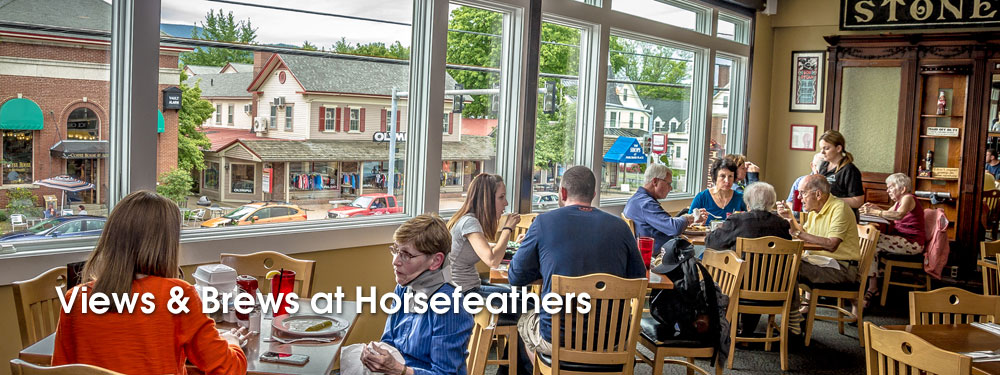 Horsefeathers Restaurant Windows On Main Street
